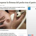 Entrevista en ABC.es: recuperar el pecho tras el parto